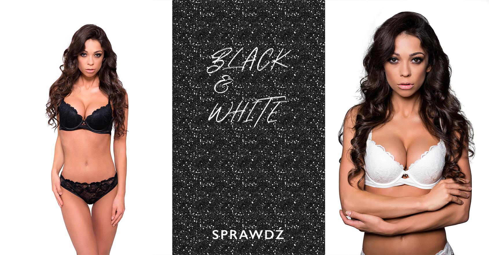 banner x-lady black and white